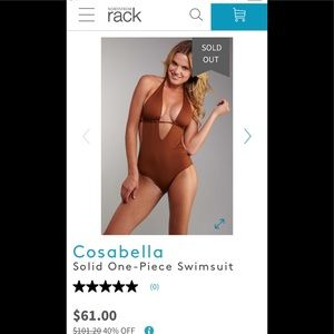 Cosabella Solid One-Piece Monokini Swimsuit